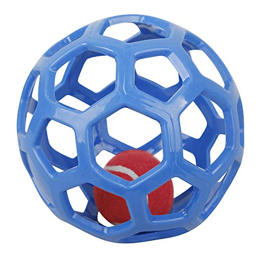 Shiny-GoGo Pet Toys IQ Treating Ball, Original Treat Dispensing Dog Ball – Hard Natural Rubber,Blue,Red,Yellow,Random…