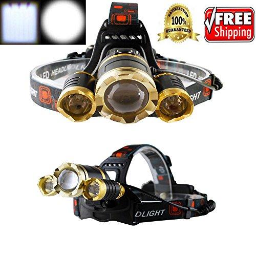 WALLER PAA 30000 LUMENS 3-CREE XML T6 LED Rechargeable 18650 Headlamp Headlight Light - Tiffany Australia Perth