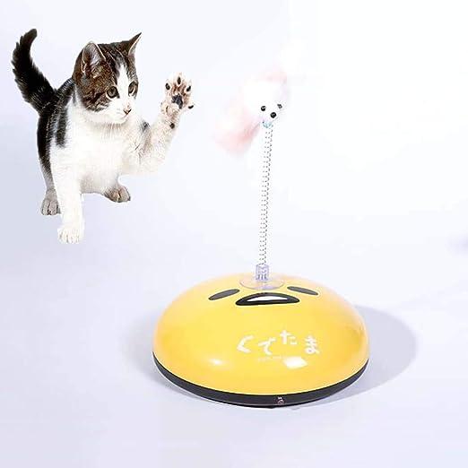 FXQIN máquina de depilación eléctrica para el hogar inalámbrica para Mascotas,2-en-1 Divertido Robot de Barrido y Juguete Teaser para Gatos, Aspirador automático de Robots, Amarillo: Amazon.es: Productos para mascotas