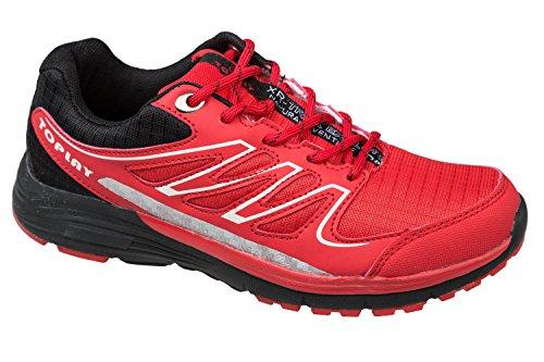 gibra® Zapatos de deporte hombre, ligeras y cómodas, Rojo, Talla 41–