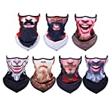 3D Face Sun Mask, Neck Gaiter, Headwear, Magic