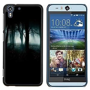 Eason Shop / Premium SLIM PC / Aliminium Casa Carcasa Funda Case Bandera Cover - Forest Green Mist Niebla Oscuro Spooky - For HTC Desire Eye ( M910x )