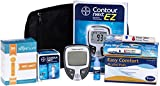 Contour Next Diabetes Testing Kit - Contour Next Ez Meter, 50 Bayer Contour Next Test Strips, 100 30g Lancets, 1 Lancing Device, 100 Alcohol Prep Pads
