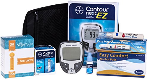 Contour-Next-Diabetes-Testing-Kit-Contour-Next-Ez-Meter-50-Bayer-Contour-Next-Test-Strips-100-30g-Slight-Touch-Lancets-1-Lancing-Device-100-Alcohol-Prep-Pads