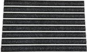 "Mats Inc. Liberty Brush Tough and Durable Entrance Mat, 18"" x 30"", Charcoal"