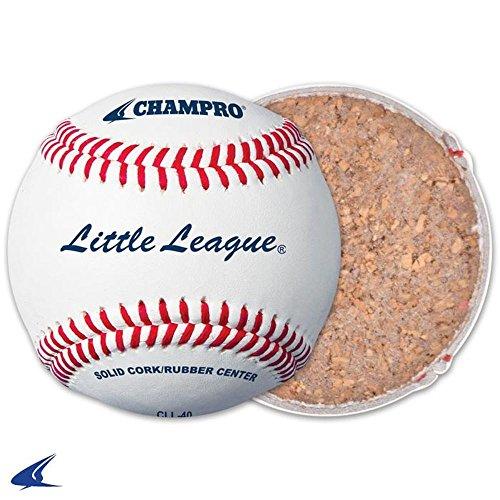 CHAMPRO Little League Game RS Cork Rubber Core - Genuine Leather Cover 1 Dozen Baseballs ()