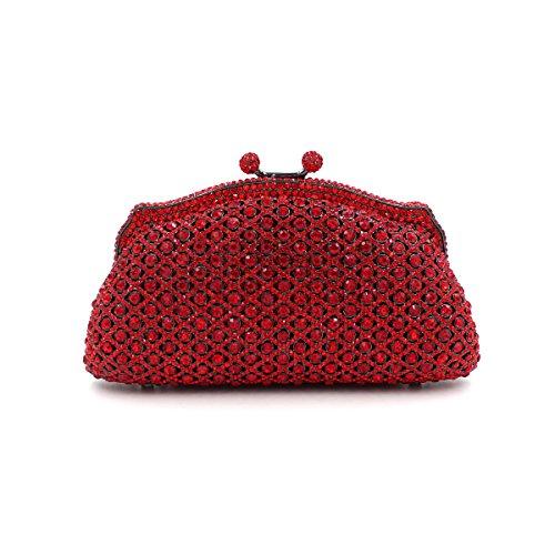 WYB Luxuxdiamantentwurfs bag / rote Diamant-Abendbeutel / High-End-volle Diamant Brautbeutel / Handtasche Kleid
