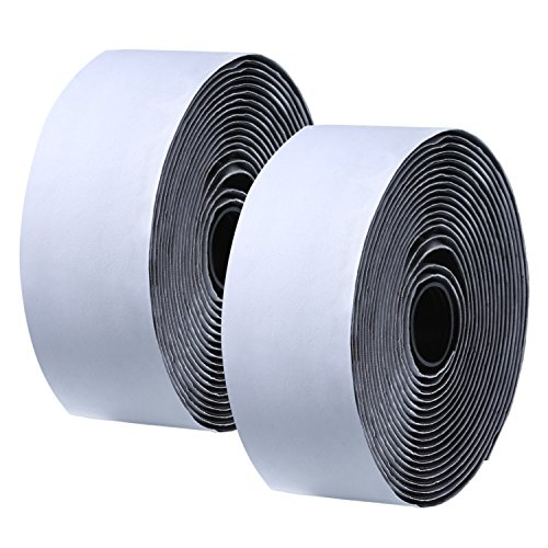 eBoot Black Self Adhesive Back Hook and Loop Tape Strip Fabric Tape (2 Inch x 15 Feet) - Loop Fasteners Self Adhesive