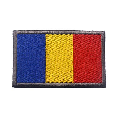 (Embroidery Each Country's Flag Patch (3''X2'', Romania))