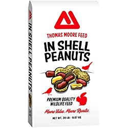TMF Premium Quality Bird and Squirrel In Shell Peanuts, 20 lb