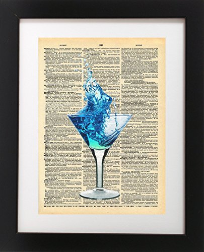 martini-glass-drink-vintage-dictionary-print-8x10-inch-home-vintage-art-abstract-prints-wall-art-for