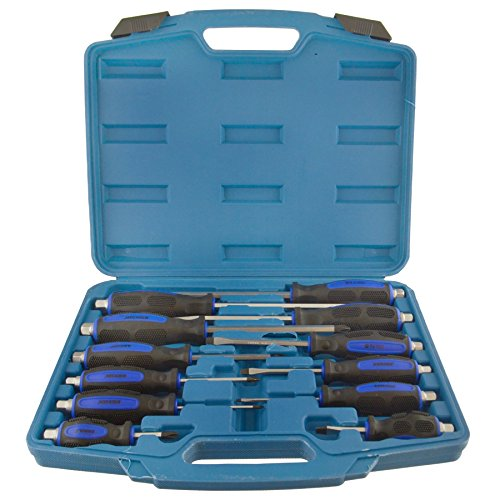 Go Through Mechanics Screwdriver Set Philips / Flat Headed 12pc Hex Shank Bergen ()