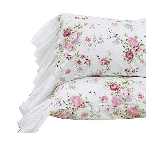 (Queen's House Romantic Roses Bed Sheet Sets 4-Piece King Size-Style L)