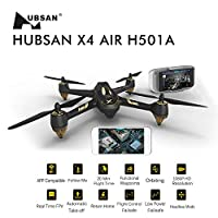 Hubsan H501A X4 Brushless WIFI Drone GPS and App Compatible 6 Axis Gyro 1080P HD Camera RTF Quadcopter from Hunter Import
