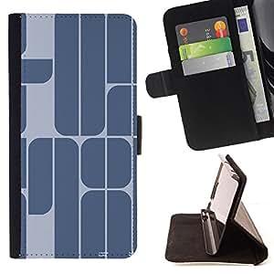 BullDog Case - FOR/Samsung Galaxy Core Prime / - / 78 YEAR BLUE GREY MINIMALIST TEXT /- Monedero de cuero de la PU Llevar cubierta de la caja con el ID Credit Card Slots Flip funda de cuer