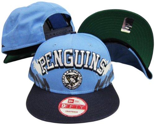 Pittsburgh Penguins Powder Blue/Navy Two Tone Plastic Snapback Adjustable Plastic Snap Back Hat / Cap