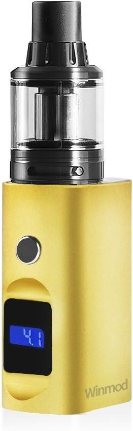 WINWAY Winmod MINI Cigarrillo E. Vapeo Kit, Rellenado Superior 0.5ohm & 0.9ohm, Tanque Atomizador 2.0ml Sub-Ohm, 900mAh Recargable, Pantalla LCD Pluma Vapeo Cig. E. Sin E-Líquido, Sin Nicotina: Amazon.es: Salud y cuidado