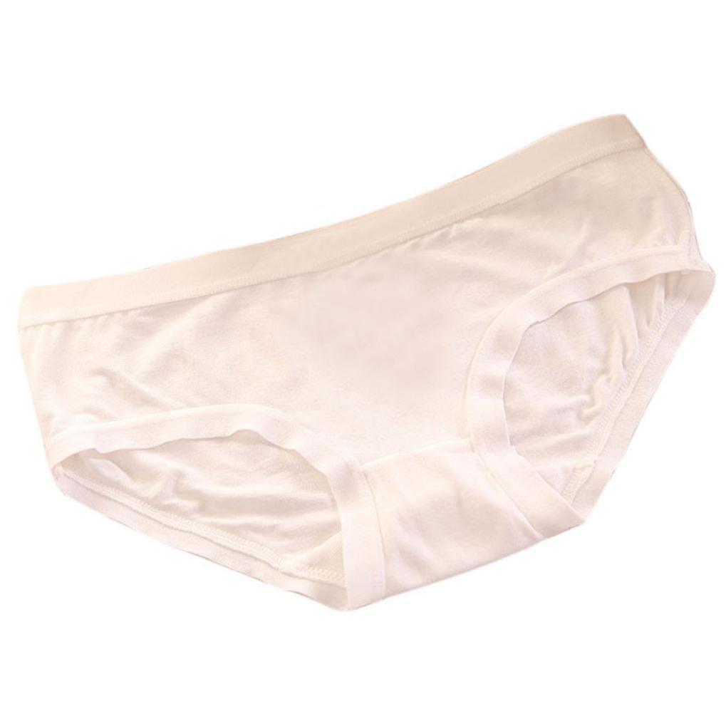 Women Cotton Seamless Panties, Witspace Hanes Hi Cut Free Size Underwear Comfortable for Waist:50-68cm (White)