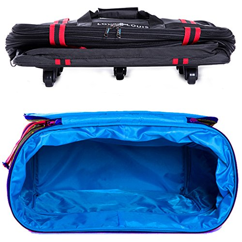 95505c7ab72 ailouis 36 Inch Expandable Extra Large Wheeled Travel Duffel Luggage ...