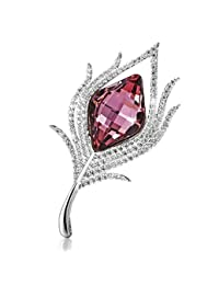 LE PAPILLION Brooches Pins for Women/Girls/Ladies, Made with Austrian Crystals
