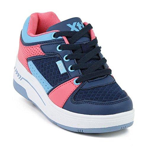 Xti 53436 - Zapatillas con Ruedas Unisex, Color Marino/Rosa/Celeste, Talla 38: Amazon.es: Zapatos y complementos