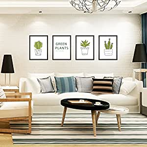 Potted Photo Frame Decoration Painting From Adhesive Environmental Tv Sofa Background Wall Sticker