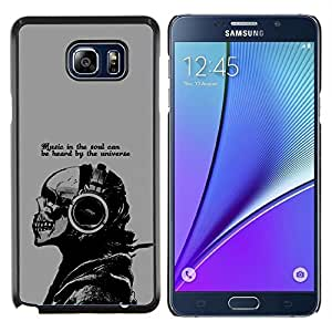 /Skull Market/ - Cool Music In The Soul Message For Samsung Note 5 N9200 N920 - Mano cubierta de la caja pintada de encargo de lujo -