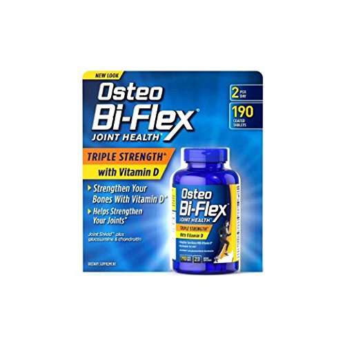 Osteo Bi-Flex - Glucosamine Chondroitin with 5-Loxin and Vitamin D3 2000IU, 190 ct. Value Size