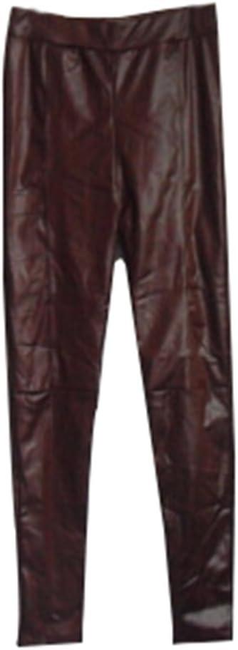 Guiran Mujer Color Sólido Skinny Pantalones Imitacion Cuero Leggings Push Up Leggins