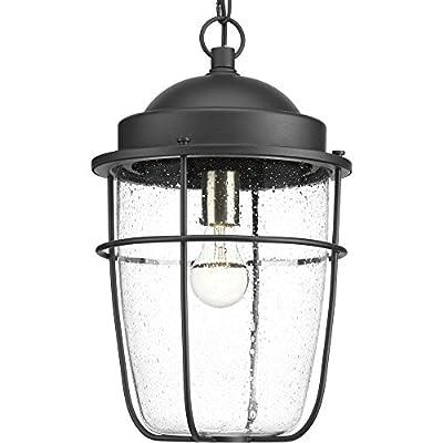 Progress Lighting P550025-031 Holcombe Hanging Lantern, Black