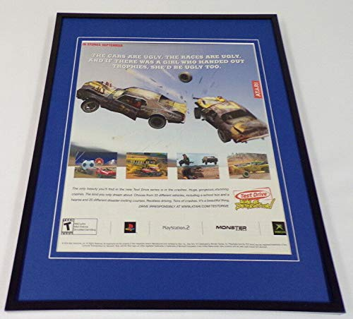 Test Drive Eve of Destruction 2004 XBox Framed 11x14 ORIGINAL Advertisement