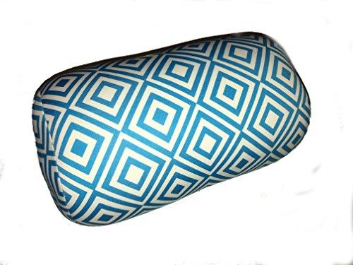 Microbead-Bolster-Diamond-Pattern-Roll-Pillow-Light-Blue