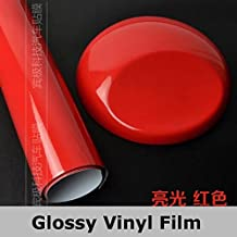 Red LGM Bright Glossy Vinyl Film Sheet Decal Car Styling Body Wrap Motorcycle Truck Wrapping Foil