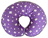 Nursing Pillow Cover Purple Skulls and Crossbones and Barbwire for Baby Boy or Baby Girl