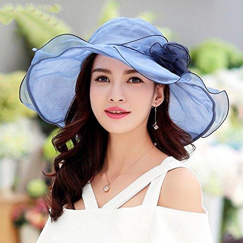 Blue Protector Visera Sombrero Los Sol Del ultravioletas Solar Casquillos Anti Haixin Damas Plegable Uq47wH7g