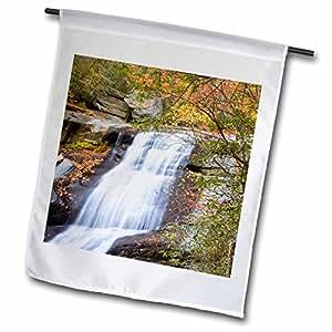 Danita Delimont - Waterfalls - Upper Creek Falls, Pisgah Forest, North Carolina - US34 CHA0027 - Chuck Haney - 18 x 27 inch Garden Flag (fl_93215_2)