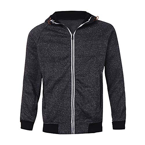 Outwear Autumn Black Blouse Tops Mens Zipper Blend Sweatshirt BHYDRY Hoodies Patchwork Cotton waqnYg