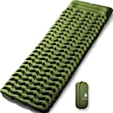 HUI LINGYANG Ultralight Air Sleeping Pad - Best Inflatable Mat for Camping,Backpacking and Traveling-Lightweight & Compact Air Mattress,Green