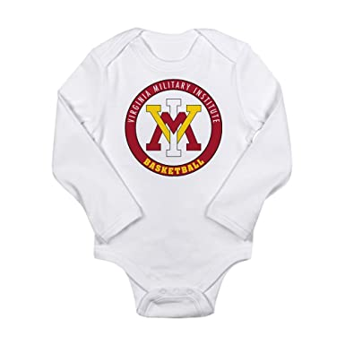 CafePress VMI Virginia Military Institute Cadets Body Suit - Cute Long Sleeve Infant Bodysuit Baby Romper