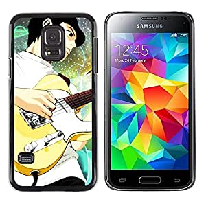 Paccase / SLIM PC / Aliminium Casa Carcasa Funda Case Cover - Guitar - Samsung Galaxy S5 Mini, SM-G800, NOT S5 REGULAR!