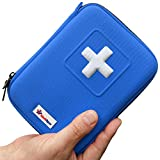 First Aid Kit - Designed for Family Emergency Care - Ideal for Home Car Travel Camping and Outdoor Activities - 100Pieces in Blue Case