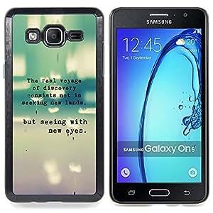 """Qstar Arte & diseño plástico duro Fundas Cover Cubre Hard Case Cover para Samsung Galaxy On5 O5 (Mensaje del trullo Cita Typewriter Inspiring"""")"""
