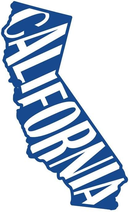 ND061B State Of California Decal Sticker | 5.5-Inches By 3.3-Inches | Premium Quality Blue Vinyl