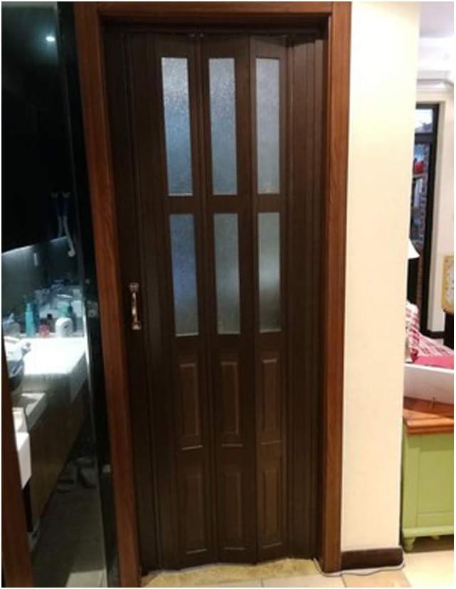 Cheap PVC Folding Accordion Door Shower Door Soundproof Commercial Accordion Folding Doors(36''80'', Teak)