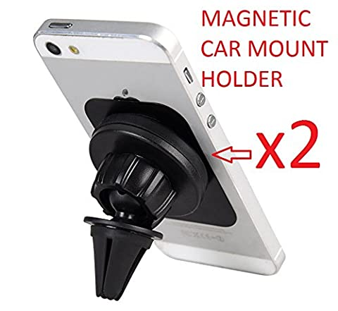 Universal Air Vent Magnetic Car Mount Holder - Keep you Drive Safety and Comfort to use your Nokia smart phone ( 2 packs, to keep more stable (Nokia Lumia 650 Phone)