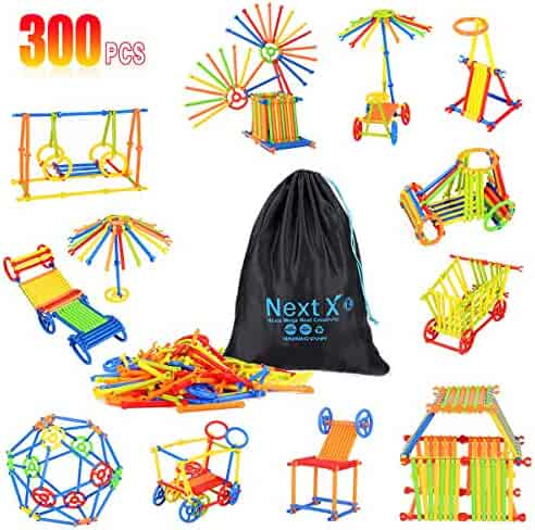 NextX Building Construction Toy 300 PCS Creative Plastic Engineering Toys 3D Puzzle Toys Educational Building Blocks Preschool Learning For Kids