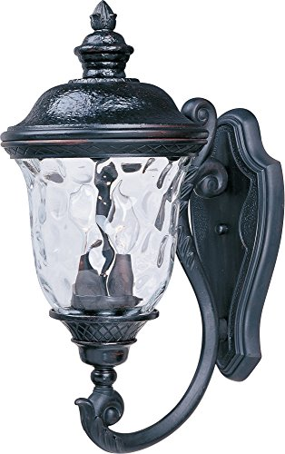 Maxim Lighting 3423WGOB Carriage House DC 2-Light Outdoor Wall Lantern, Bottom Mount, Oriental Bronze Finish