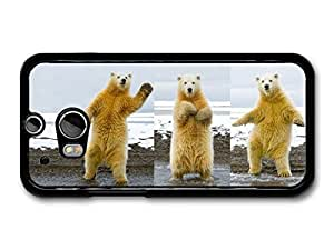 AMAF ? Accessories Dancing Funny Polar Bears case for HTC One M8 by ruishername