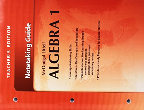 McDougal Littell Algebra 1: Notetaking Guide, Teacher's Edition (Holt McDougal Larson Algebra 1)