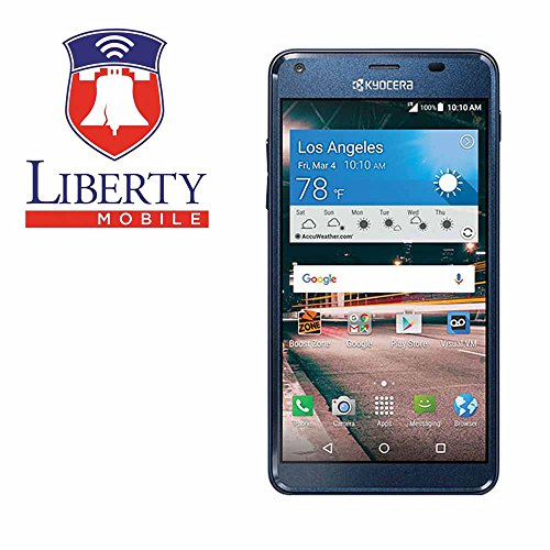 Liberty Mobile Kyocera Hydro Reach C6743-4G LTE Prepaid Phone - Includes 30 days of service Unlimited Talk/Text/1GB Data - Smartphone Android with minutes included, No Contract Prepaid